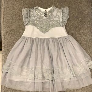 Grey boutique dress worn once perfect condition